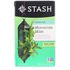 Stash Tea, Зеленый чай, марокканская мята, 20 чайных пакетиков, 0,9 унции (26 г)