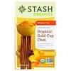 Stash Tea, Травяной чай, органический чай масала «Золотая чаша», без кофеина, 18 чайных пакетиков, 1,2 унц. (36 г)
