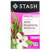 Stash Tea, Herbal Tea, Wild Raspberry Hibiscus, Caffeine Free, 20 Tea Bags,1.3 oz (38 g)
