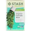 Stash Tea, Herbal Tea, Organic Cascade Mint, Caffeine-Free, 18 Tea Bags, 0.6 oz (18 g)