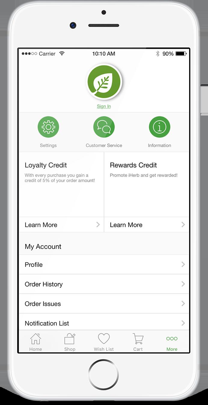Приложение iHerb для Android