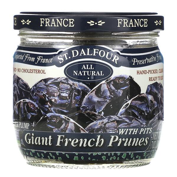 St. Dalfour, Giant French Prunes (Гигантский французский чернослив) с косточками, 200 г (7 унций)