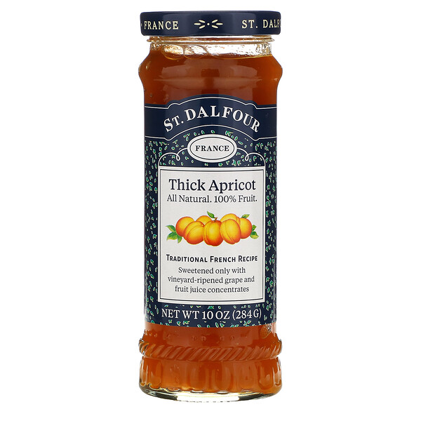 Deluxe Thick Apricot Spread, 10 oz (284 g)