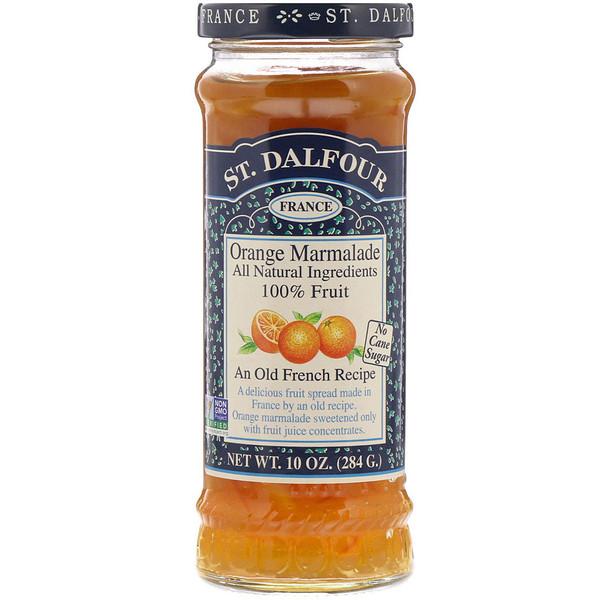 St. Dalfour, Апельсиновый мармелад, Шикарный апельсиновый мармеладный джем, 10 унций (284 г)
