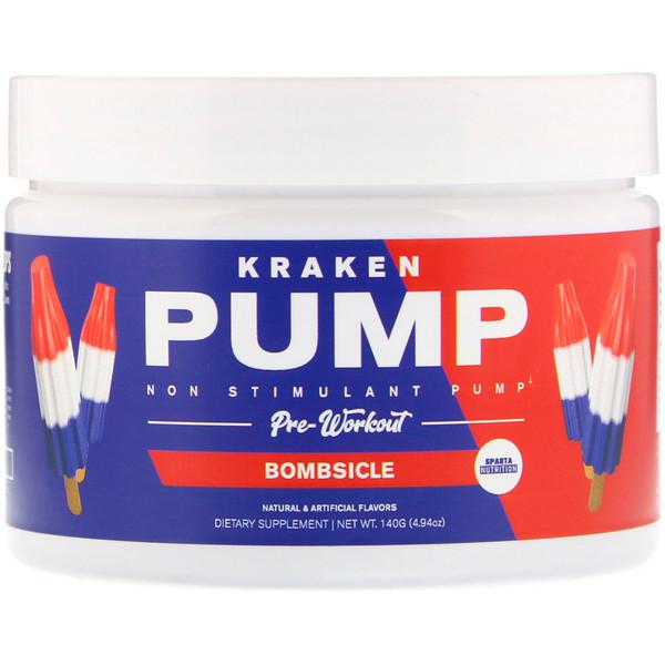 Sparta Nutrition, Kraken Pump Pre-Workout, Bombsicle, 4.9 oz (140 g) (Discontinued Item)