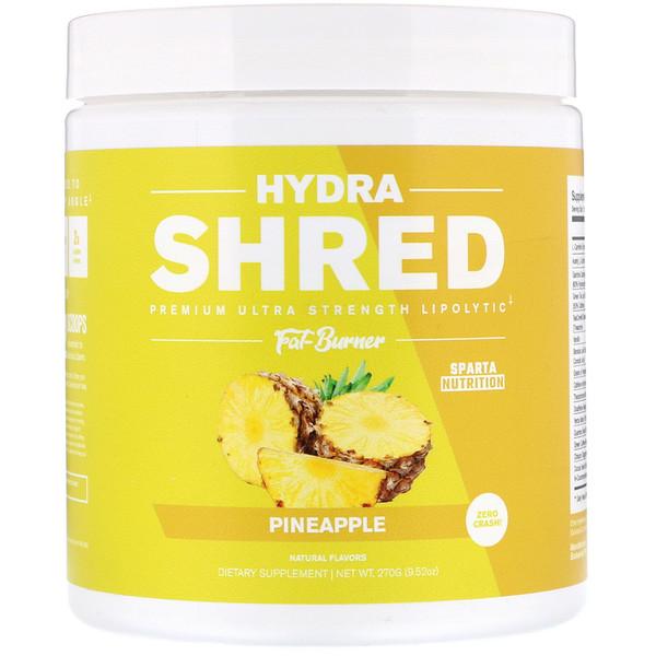 Sparta Nutrition, Сверхмощный жиросжигатель высшего качества с липолитическим эффектом Hydra Shred, ананас, 9,52 унц. (270 г)  (Discontinued Item)