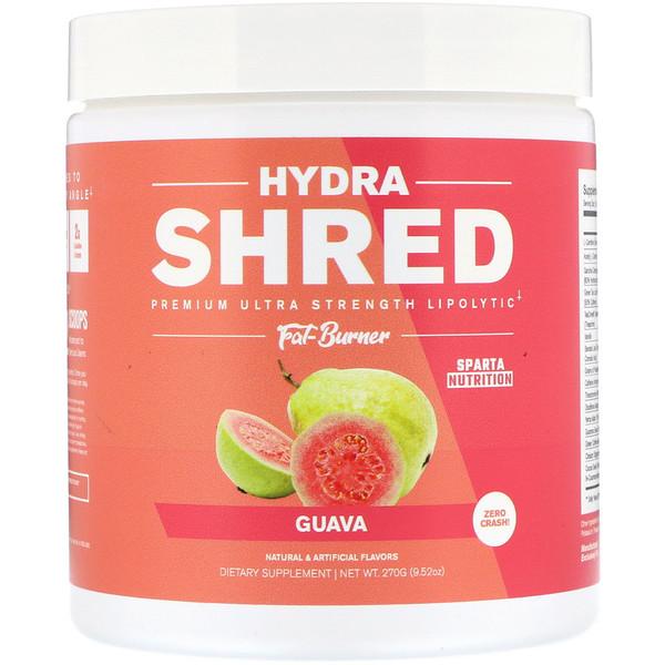 Sparta Nutrition, Сверхмощный жиросжигатель высшего качества с липолитическим эффектом высшего качества Hydra Shred, гуава, 9,52 унц. (270 г) (Discontinued Item)