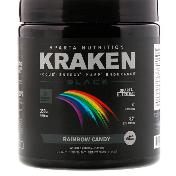 Sparta Nutrition, Спортивная питательная смесь Kraken Black, 11,29 унц. (320 г) (Discontinued Item)