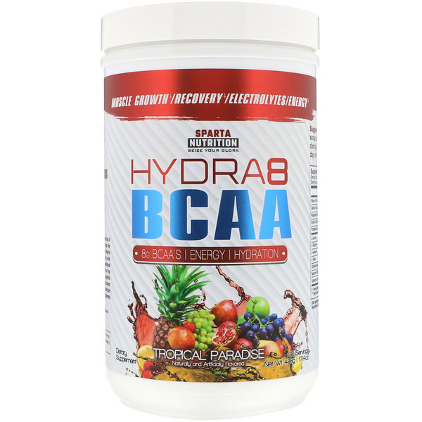 Sparta Nutrition, Hydra8 BCAA, Tropical Paradise, 17.14 oz (486 g) (Discontinued Item)