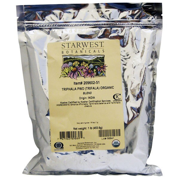 органическая смесь порошка трифалы, 453,6 г (1 фунт)