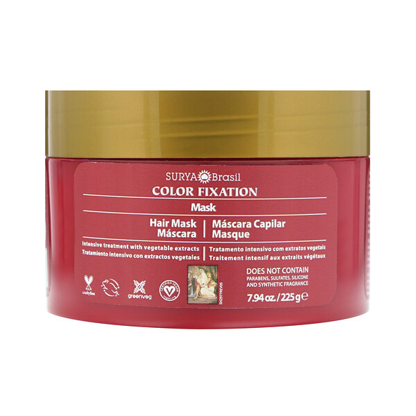 Фиксация цвета - восстанавливающая маска для волос, 7,6 жидких унций (225 г)