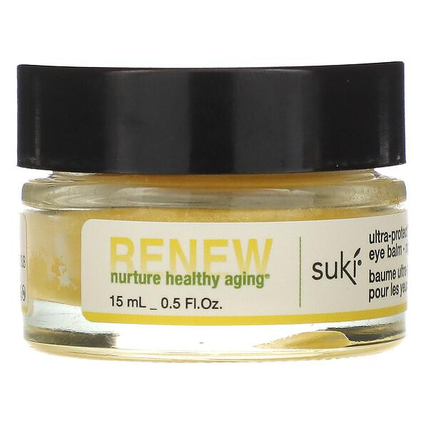 Suki, Renew, ультразащищающий бальзам для глаз, ночной, 0.5 жидких унций (15 мл)