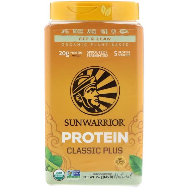 Classic Plus Protein, органический, на растительной основе, натуральный, 1,65 фунтов (750 г)