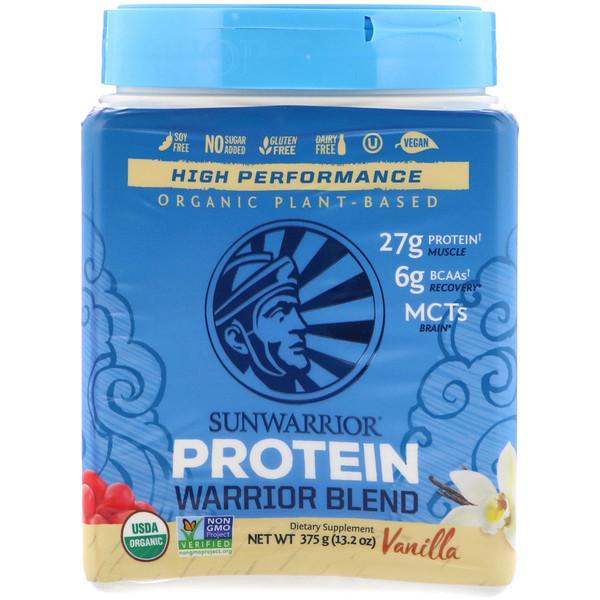 Протеиновая смесь Warrior, органическая, на растительной основе, со вкусом ванили, 375 г