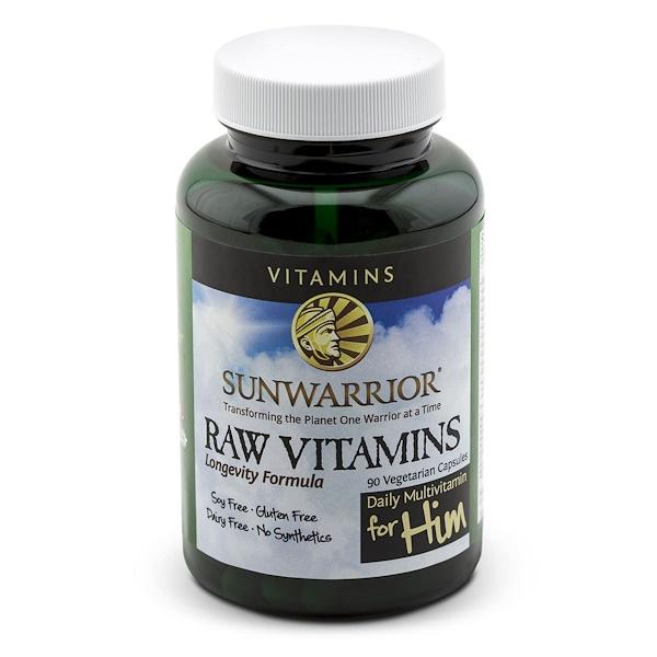 Sunwarrior, Сырые витамины, ежедневный мультивитамин для него, 90 капсул на растительной основе (Discontinued Item)