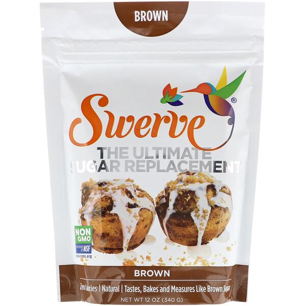 Swerve, Лучший заменитель сахара, коричневый, 12 унц. (340 г) (Discontinued Item)