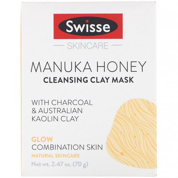 Skincare, мед манука, очищающая глиняная маска, 70г (2,47унции)