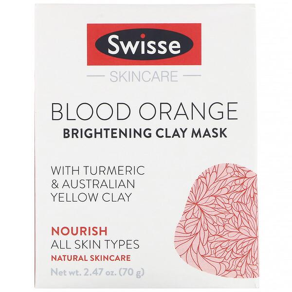 Skincare, красный апельсин, осветляющая глиняная маска, 70г (2,47унции)
