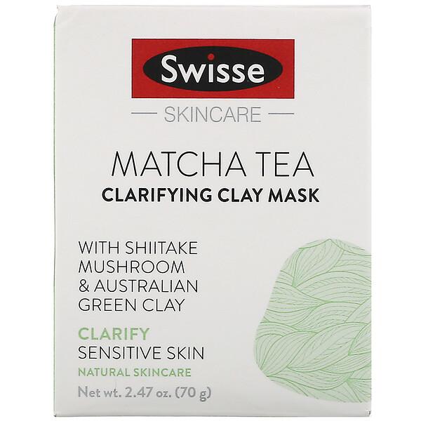Swisse, Skincare, чай матча, очищающая глиняная маска, 70г (2,47унции)