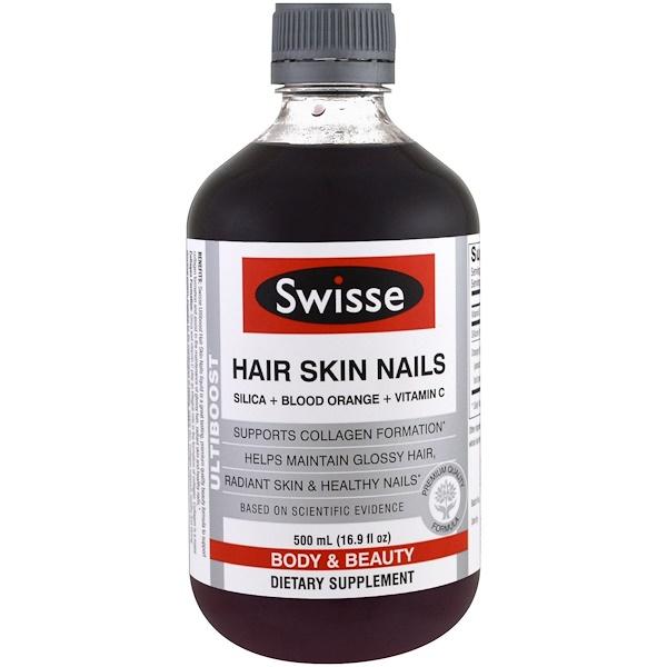 Swisse, Ultiboost, волосы, кожа, ногти, 16,9 унции (500 мл) (Discontinued Item)