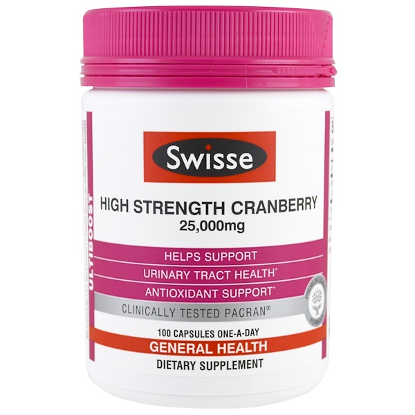 Swisse, Ultiboost, сила клюквы, 25000 мг, 100 капсул (Discontinued Item)