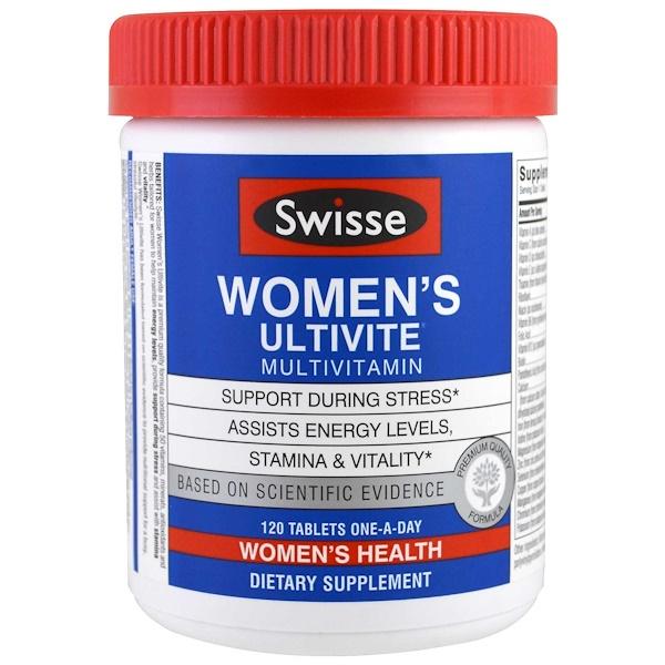 Swisse, Мультивитаминный комплекс для женщин Women's Ultivite, 120 таблеток (Discontinued Item)