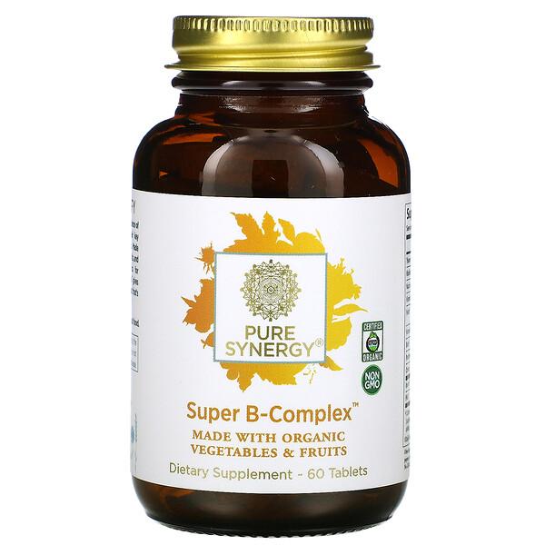 Pure Synergy, Organic Super B-Complex, 60таблеток