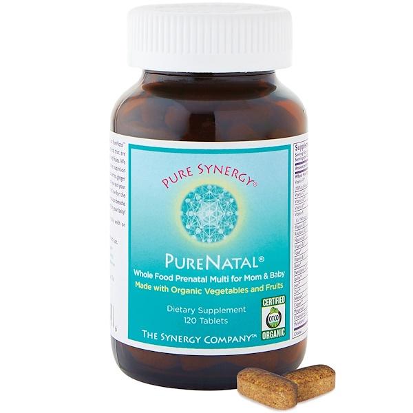 Pure Synergy, PureNatal, 120 таблеток