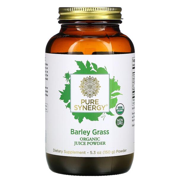 Pure Synergy, порошок из органического сока ростков ячменя, 150г (5,3унции)