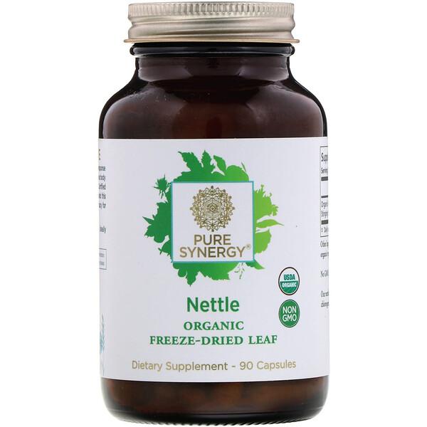 Pure Synergy, Крапива, органические сублимированные листья, 90капсул