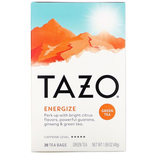 Tazo Teas, Energize, Green Tea, 20 Tea Bags, 1.69 oz (48 g)