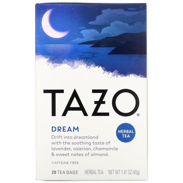 Tazo Teas, Dream, Herbal Tea, 20 Tea Bags, 1.41 oz (40 g)