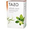 Tazo Teas, Травяной мятный чай  без кофеина, 20 фильтр-пакетиков, 0.8 унций (24 г)