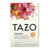 Tazo Teas, Passion, травяной чай, без кофеина, 20чайных пакетиков, 52г (1,8унции)