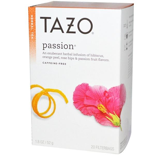 Травяной чай без кофеина «Взрыв чувств», 20 фильтр-пакетиков, 1,8 унции (52 г)