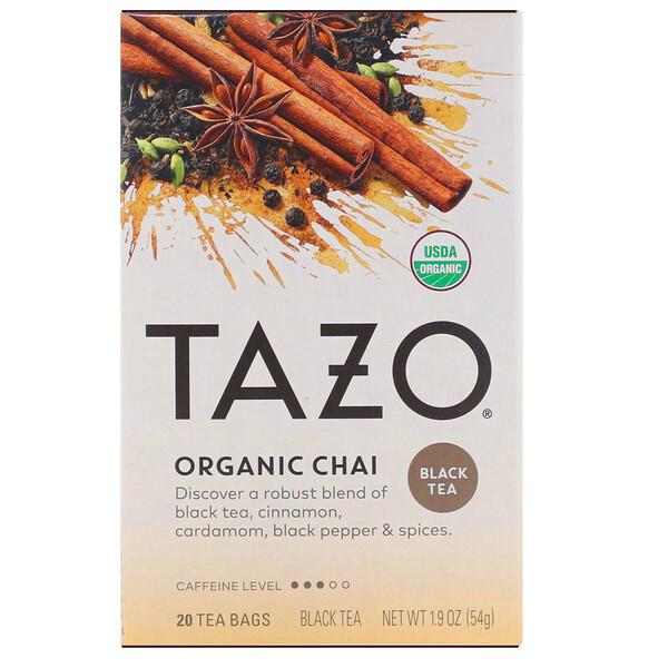 Tazo Teas, Органический чай, черный чай, 20чайных пакетиков, 54г (1,9унций)
