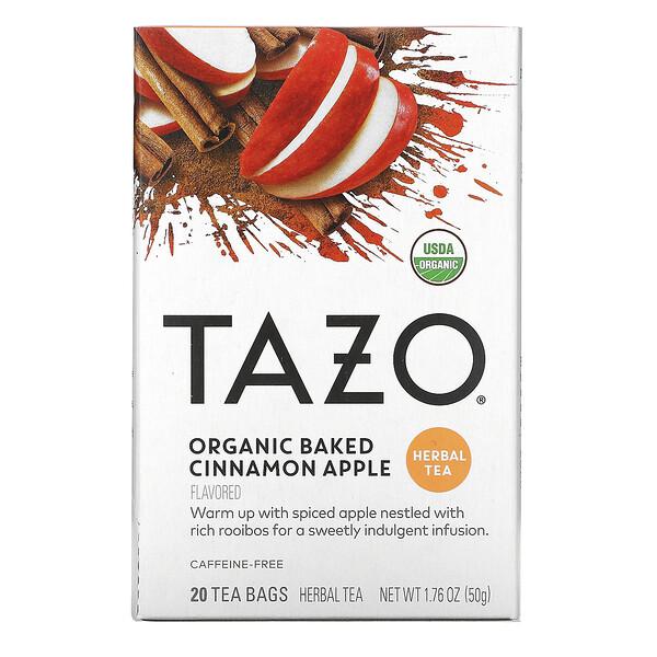 Tazo Teas, Herbal Tea, Organic Baked Cinnamon Apple, Caffeine-Free, 20 Filterbags, 1.76 oz (50 g)