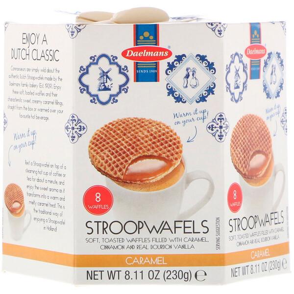 Daelmans, Stroopwafels, Large Hex Box, Caramel, 8 Waffles, 8.11 oz (230 g)
