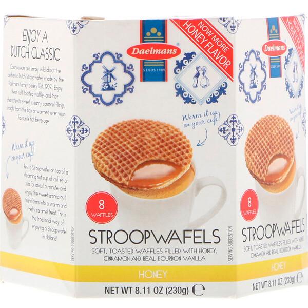Stroopwafels, Large Hex Box, Honey, 8 Waffles, 8.11 oz (230 g)