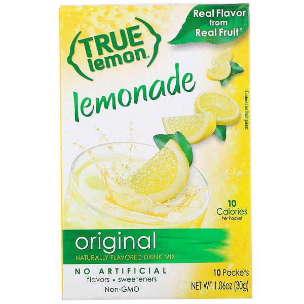 True Lemon, Настоящий лимонад, 10 пакетов, 1,06 унц. (30 г)