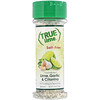 True Citrus, True Lime, Кристаллизированный лимон, Чеснок и кинза, Без соли, 1,94 унц. (55 г)