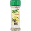 True Citrus, True Lemon, Кристаллизованный лимон и перец, Без соли, 2,12 унц. (60 г)