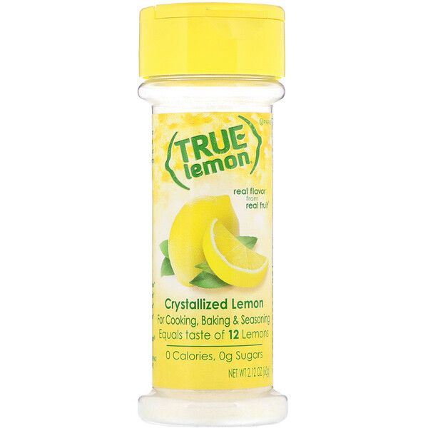 True Citrus, True Lemon, Кристаллизованный лимон, 2,12 унц. (60 г)