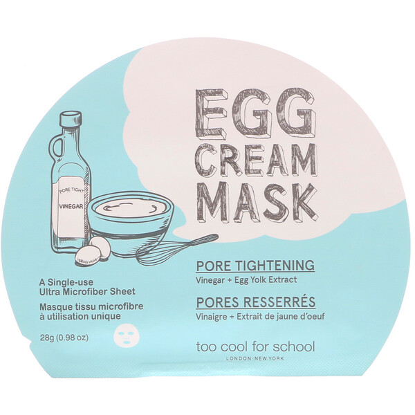 Яичная крем-маска, подтяжка пор, 1 шт., 0,98 унц. (28 г)
