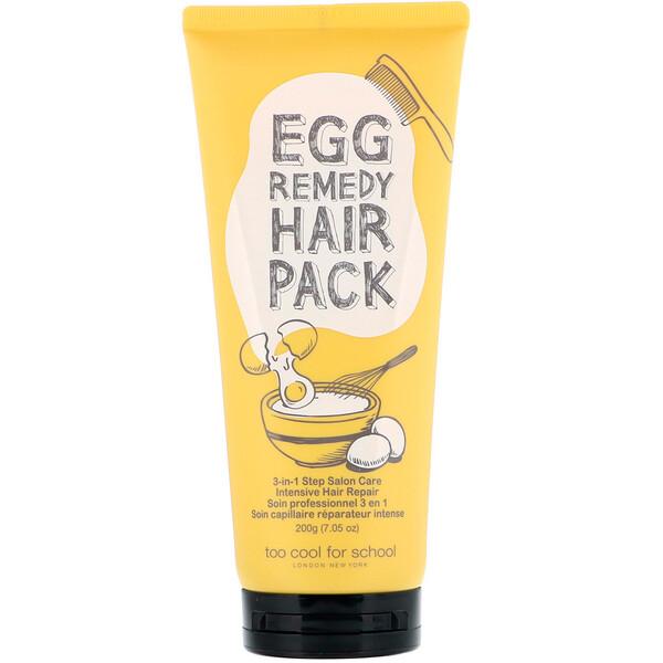 Too Cool for School, Восстанавливающая маска для волос с яичным экстрактом, 200г (7,05унции) (Discontinued Item)