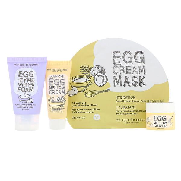 Мини-набор для ухода за кожей Egg-ssential, набор из 4 компонентов