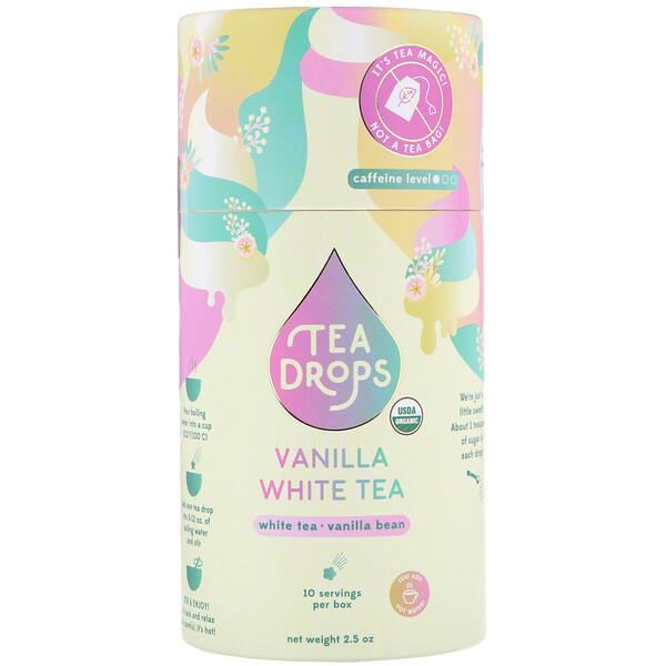 Tea Drops, Белый чай с ванилью, 2,5унции (Discontinued Item)