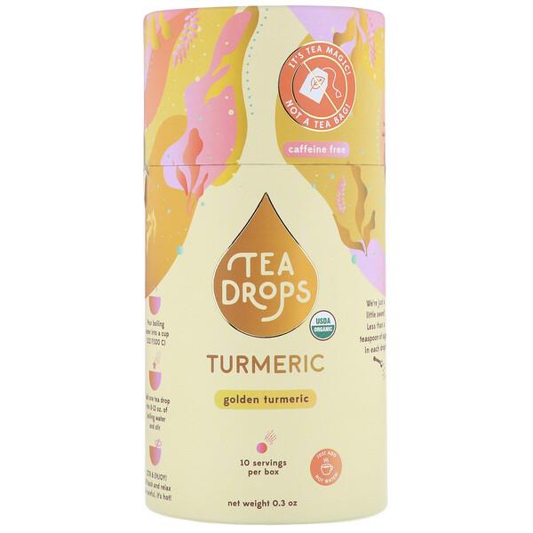 Tea Drops, Куркума, без кофеина, 0,3унции
