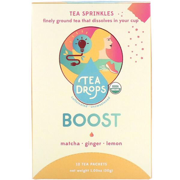 Tea Drops, Чай в порошке, взрыв энергии, 12чайных пакетиков, 30г (1,05унции)