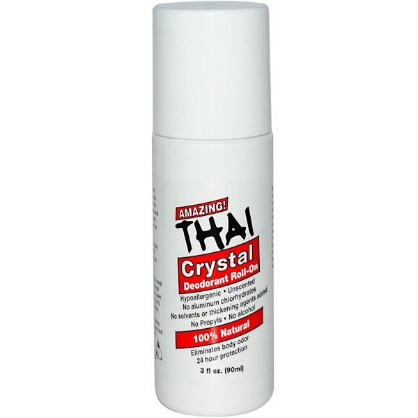 Thai Deodorant Stone, Шариковый дезодорант, 90 мл (Discontinued Item)